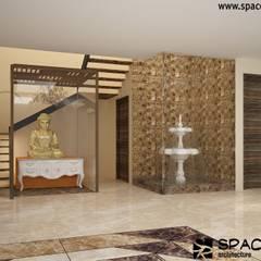 Residence at Lajpat Nagar Jalandhar (Bantu Sabhawal):  Corridor & hallway by Spacerace,