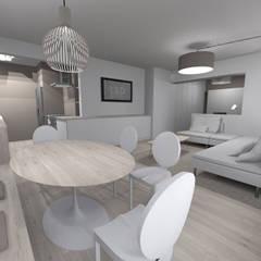 RÉNOVATION D'UN APPARTEMENT: Salle à manger de style de style Minimaliste par L&D Intérieur