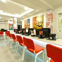 Makemytrip office-chennai:  Office buildings by Designink Architecture and Interiors