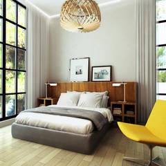 Квартира в Геленджике: Спальни в . Автор – Porterouge Interiors \ Krasnye Vorota, Эклектичный