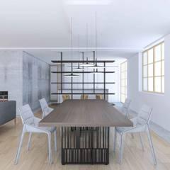 CASA C: Sala da pranzo in stile  di Studio Associato Casiraghi