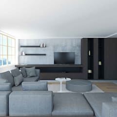 Living room by Studio Associato Casiraghi, Scandinavian