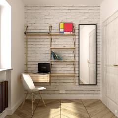 Gabinet: styl , w kategorii Domowe biuro i gabinet zaprojektowany przez H+ Architektura