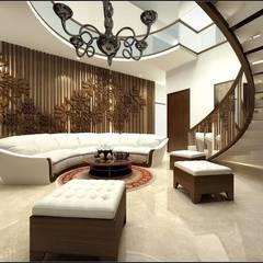 house interiors:  Corridor & hallway by Vinyaasa Architecture & Design,Modern