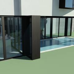 Villa de Monte: DDS 건축디자인의  수영장