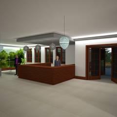 Recepcja: styl , w kategorii Kliniki zaprojektowany przez ARCH.SAR Daniel Sarna