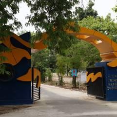 fish federation's entrance gate Modern windows & doors by Vinyaasa Architecture & Design Modern