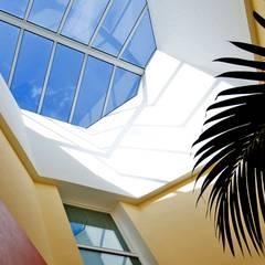Toit vitré: Murs de style  par Pierre Bernard Création