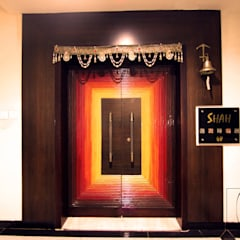 A Duplex Apartment, Raipur Modern windows & doors by ESHA GARG : Interior Designer Modern