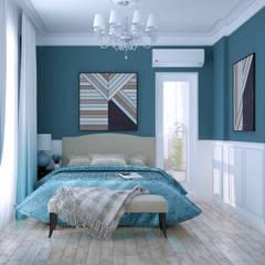 Дизайн спальни в Геленджике: Спальни в . Автор – Студия интерьерного дизайна happy.design