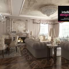 Projekt ultraluksusowego apartamentu w Krakowie: styl , w kategorii Salon zaprojektowany przez Intellio designers