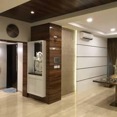Pooja Niche:  Corridor & hallway by Studio Stimulus