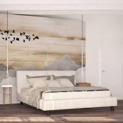 Attico a Fino Mornasco: Camera da letto in stile  di Silvana Barbato, StudioAtelier
