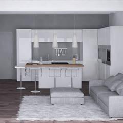 مطبخ تنفيذ Silvana Barbato, StudioAtelier