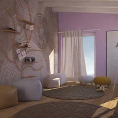 Visualizzazione 3D - camera bimba: Stanza dei bambini in stile  di Silvana Barbato, StudioAtelier