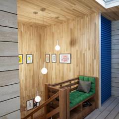 Загородный дом: Коридор и прихожая в . Автор – Grafit Architects
