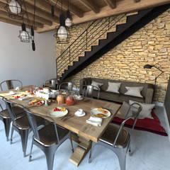 Aménagements pour chambres d'hôtes: Salle à manger de style de stile Rural par La Fable