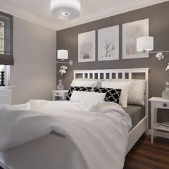 Angielska Sypialnia: styl , w kategorii Sypialnia zaprojektowany przez Klaudia Tworo Projektowanie Wnętrz Sp. z o.o.