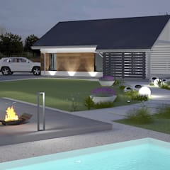 Dom i ogród z Charakterem: styl , w kategorii Garaż zaprojektowany przez Klaudia Tworo Projektowanie Wnętrz Sp. z o.o.