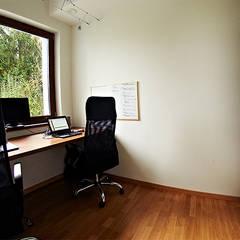 Realizacja projektu Amelia: styl , w kategorii Domowe biuro i gabinet zaprojektowany przez Biuro Projektów MTM Styl - domywstylu.pl