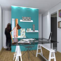 Création d'un bureau professionnel dans l'extension: Bureau de style de style Scandinave par cetsarchitectureinterieure