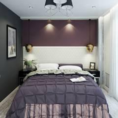 2к.кв в ЖК Никольский (70кв.м) Спальня в эклектичном стиле от ДизайнМастер Эклектичный