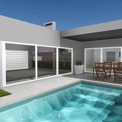 Ampliación de vivienda unifamiliar : Garajes de estilo  por T.F | ARQuitectura y DIseño