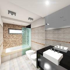 Remodelacion Baño : Baños de estilo  por T.F | ARQuitectura y DIseño ,Moderno