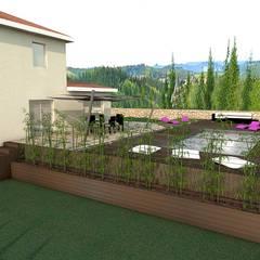 Aménagement extérieur : plantation de bambous: Piscines  de style  par réHome