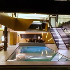 Concrete House :  Pool by Nico Van Der Meulen Architects , Modern