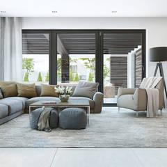Aranżacja wnętrza domu HomeKONCEPT-32: styl , w kategorii Salon zaprojektowany przez HomeKONCEPT | Projekty Domów Nowoczesnych