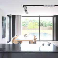 Projekt domu HomeKONCEPT-30: styl , w kategorii Jadalnia zaprojektowany przez HomeKONCEPT | Projekty Domów Nowoczesnych,