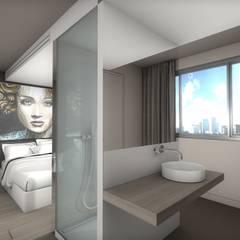 Chambre avec salle de bain: Salle de bains de style  par réHome