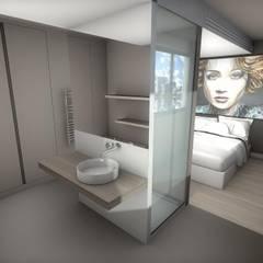 Salle de bain ouverte sur chambre: Salle de bains de style  par réHome