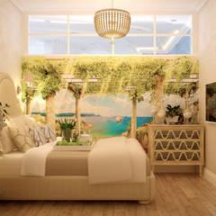 Дизайн гостевой спальни в Геленджике: Спальни в . Автор – Студия интерьерного дизайна happy.design