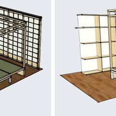 Progetto 3D della camera da letto: Camera da letto in stile in stile Asiatico di Arpel