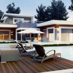 VERO CONCEPT MİMARLIK – Karadavut Villa:  tarz Bahçe, Modern