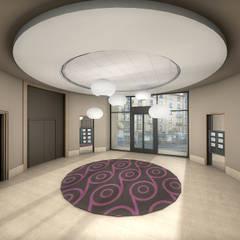 Réhabilitation contemporaine d'un hall d'entrée de bureaux : Bureaux de style  par réHome