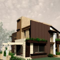 Exterior 3D View:  Houses by Chaukor Studio