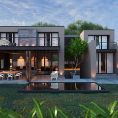 CASA CELAYA: Casas de estilo  por Tectónico, Moderno