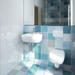Projekty Nowoczesna łazienka od biuro40 Nowoczesny