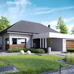 Projekt domu HomeKONCEPT-31: styl nowoczesne, w kategorii Domy zaprojektowany przez HomeKONCEPT | Projekty Domów Nowoczesnych