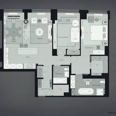 2 bedroom apartment. New York: Окна в . Автор – KAPRANDESIGN