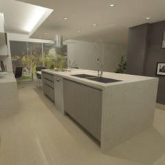 COCINA QUINTA EPE: Cocinas de estilo  por OPFA Diseños y Arquitectura,