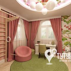 Детская для девочки трех лет: Детские комнаты в . Автор – Interior Design Studio Tut Yut,