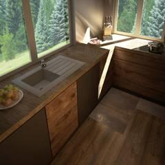 Podmiejska Willa: styl , w kategorii Kuchnia zaprojektowany przez CODI art ,