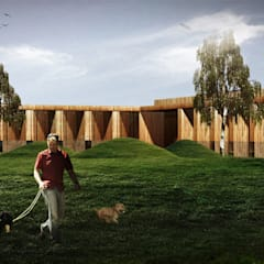 Projekt hotelu dla zwierząt : styl , w kategorii Hotele zaprojektowany przez ddArchitekci