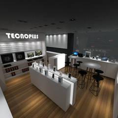 Interior Loja: Shopping Centers  por Tendenza Arquitetura