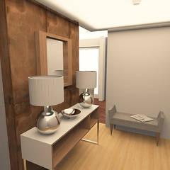 RECIBIDOR: Pasillos y recibidores de estilo  por ARDIN INTERIORISMO