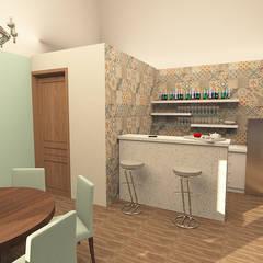 BAR : Salas multimedia de estilo industrial por ARDIN INTERIORISMO